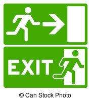 Evacuation Sign Clipart.