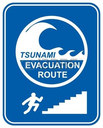 Tsunami Warning System Clip Art.