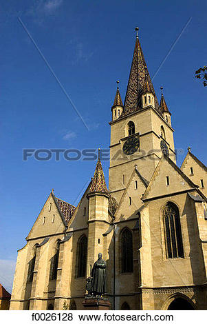 Pictures of Romania, Transylvania, Sibiu, Evangelical church.