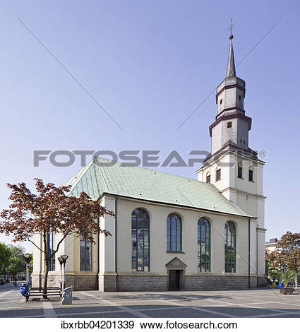 Stock Photograph of Martin Luther evangelical Church, 1739, Hamm.