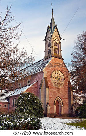 Stock Photography of Evangelical Church. Europe, Germany, Baden.