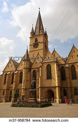 Stock Photo of Evangelical church Sibiu Transylvania Romania m37.
