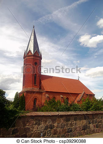 Pictures of Evangelical Church in Milmersdorf csp39290388.