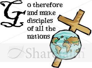 Great Commission with Globe and Cross.