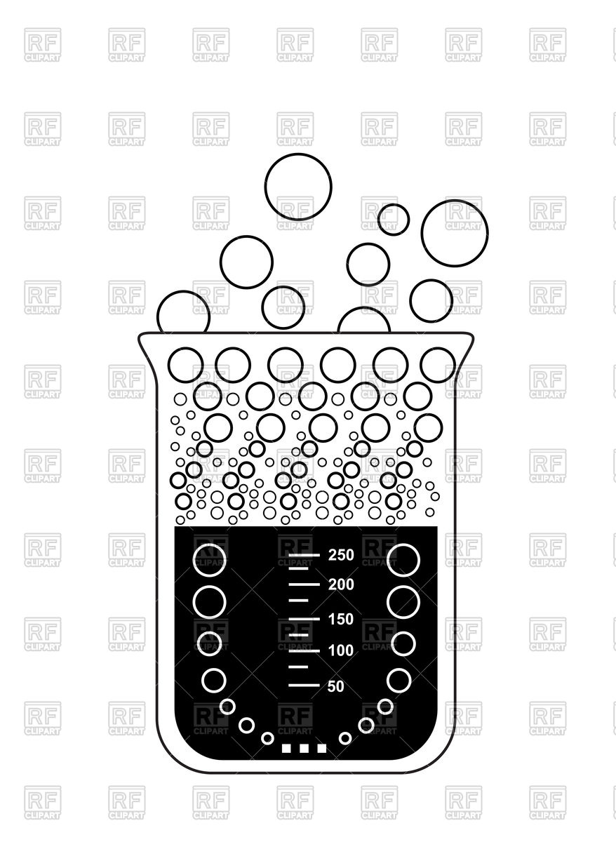 Chemical beaker with evaporating solution Vector Image #86182.