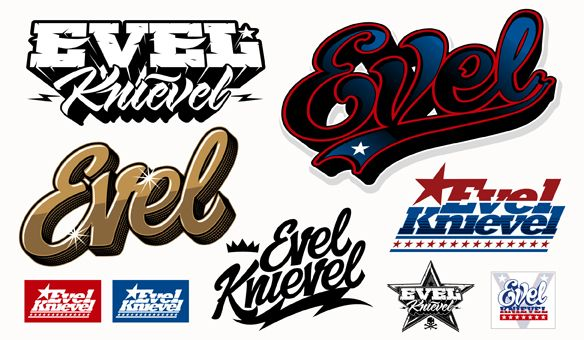 Evel Knievel fonts.