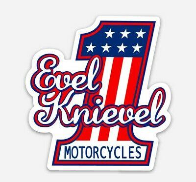 Evel Knievel Logo Die Cut Vinyl Sticker Decal Stuntman #1.