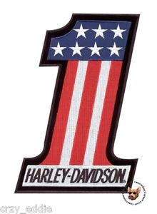 Details about HARLEY DAVIDSON USA NUMBER 1 EVEL KNIEVEL VEST PATCH * MADE  IN USA * 4 IN TALL.