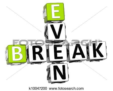 Stock Photography of 3D Even Break Crossword k10047200.