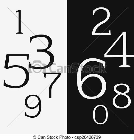 Even Numbers Clipart.