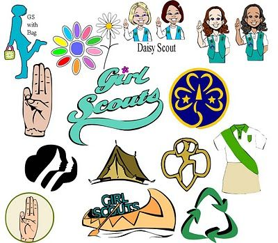Great free clip art for Girl Scouts! There are even SVG files that.