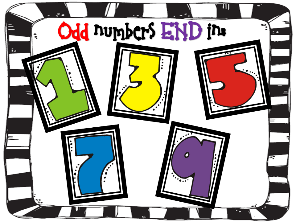 Odd and even numbers clipart.