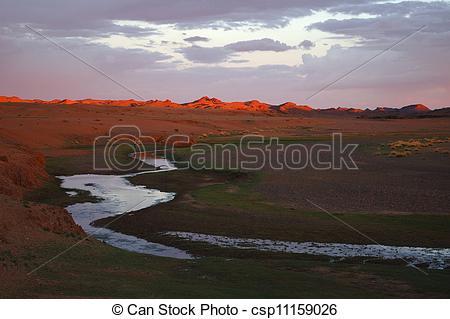 Clip Art of Gobi desert.