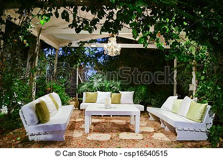 Stock Photography of romantic atmosphere in the evening on the.