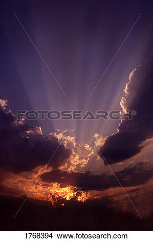 Stock Photo of Sunset and evening clouds 1768394.
