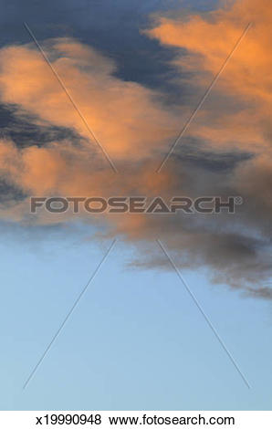 Pictures of Evening altostratus clouds x19990948.