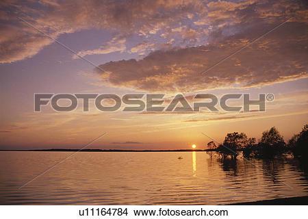 Stock Photo of Evening Glow u11164784.
