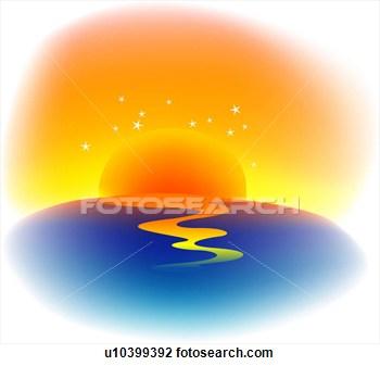 Evening Sun Clipart.