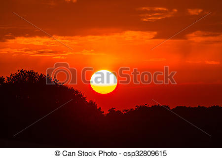 Stock Photography of Evening glow.