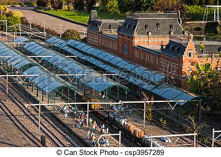 Stock Photographs of Evening light in Madurodam.
