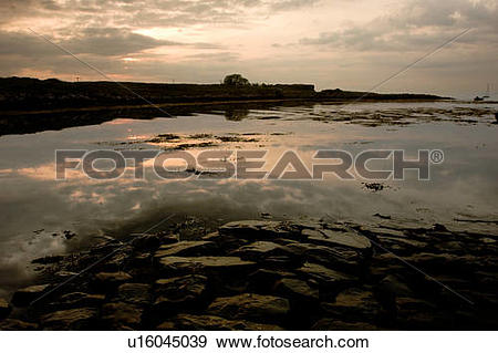 Stock Photograph of Evening light at Croag, Isle of Mull, Scotland.