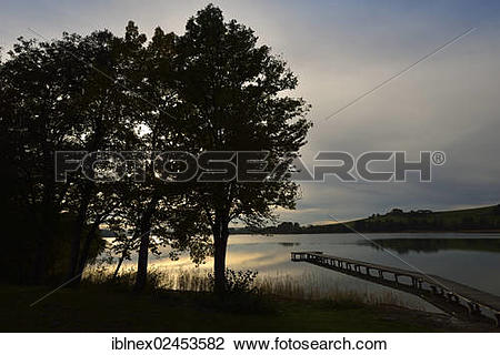 "Stock Photo of ""Evening mood near Neumarkt on Lake Waller."