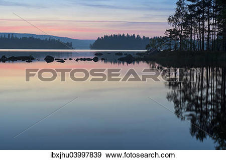 "Stock Photograph of ""Evening mood in the Glaskogen nature reserve."