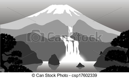 Vectors of Vector scenery of evening at mountains csp17602339.