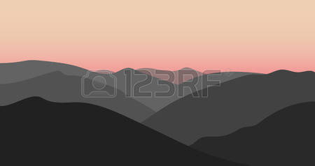 9,751 Mountain Sunset Stock Vector Illustration And Royalty Free.