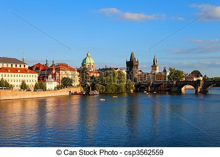Stock Photographs of Evening Prague.