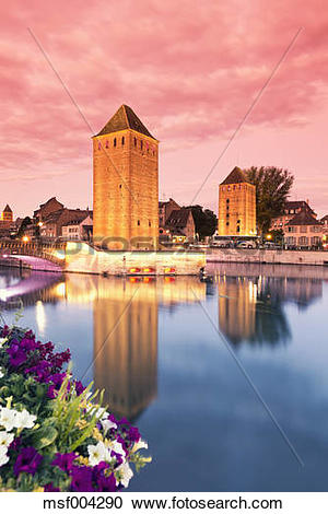 Stock Photography of France, Alsace, Strasbourg, Petite France.