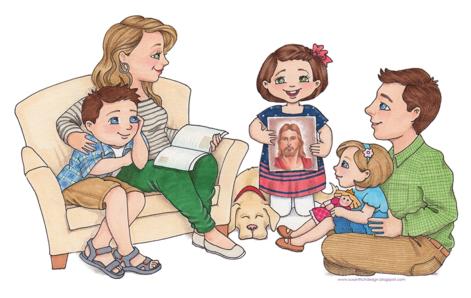 Lds family home evening clipart.