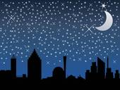 Night sky clip art.