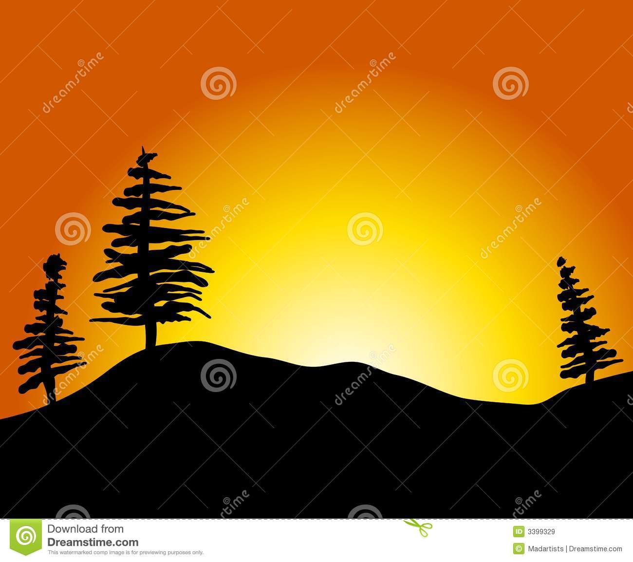 Clipart of sunset.