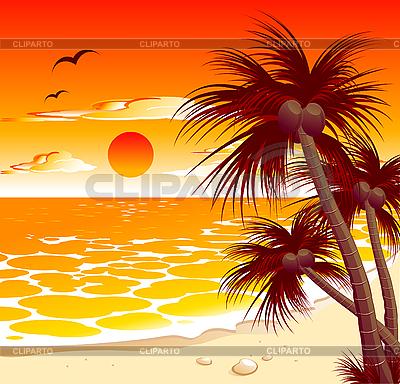 Evening sunset clipart #15