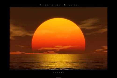 Evening Sunset Clip Art.