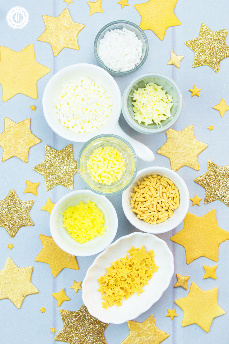 DIY Star Sprinkles with Metallic Effects.