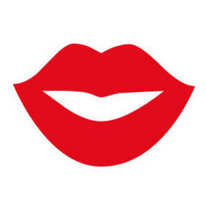 Free Clipart Picture of Red Lips in a Smile.