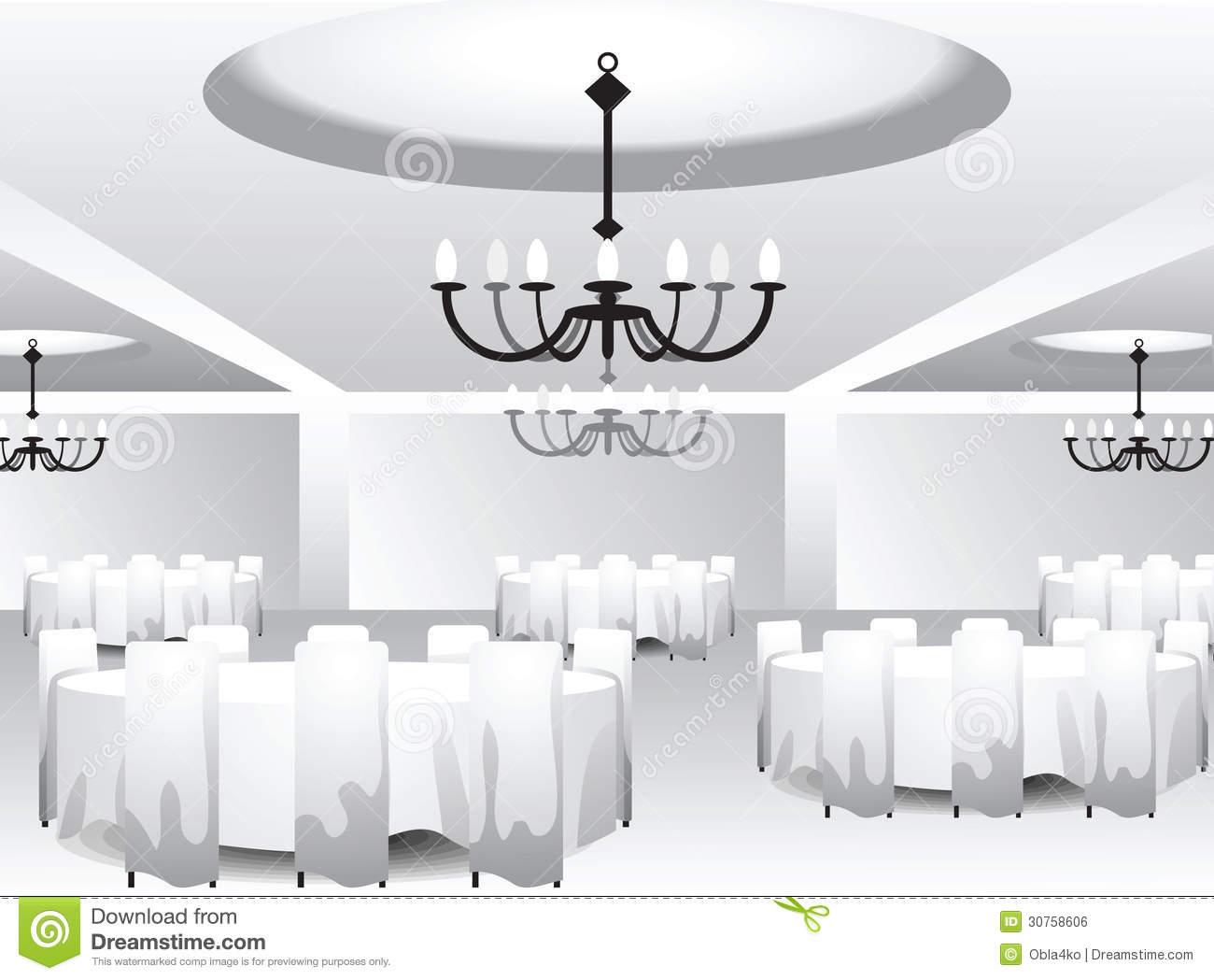 Banquet hall clipart.