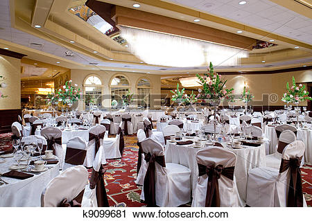 Stock Photography of Banquet hall k9099681.