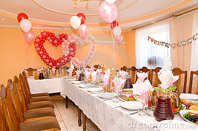 Wedding Banquet Hall Stock Image.