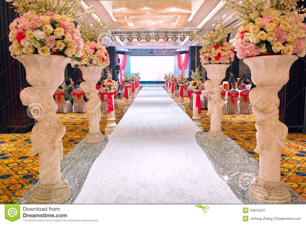 Wedding Banquet Hall Royalty Free Stock Photography.