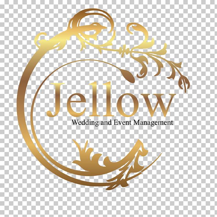 Event management Logo Wedding Planner, wedding, gold Jellow.