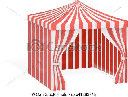 Vector Clip Art of Carnival tent for outdoor party event vector.