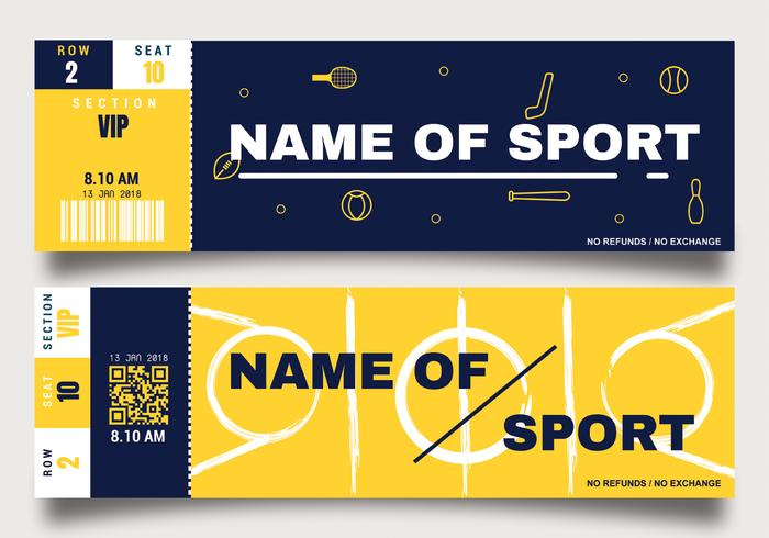 Sporting Event Ticket Template.