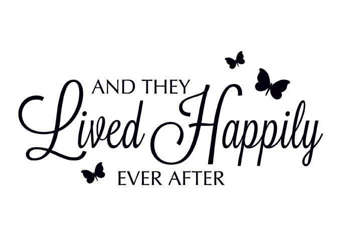 Happily ever after clip art.