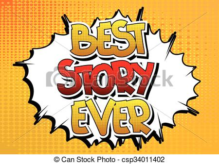 Vector Clipart of Best Story Ever.
