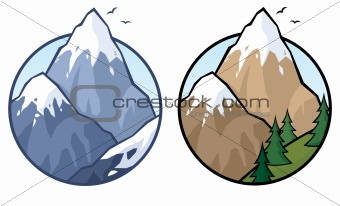 Mountain Everest Clipart.