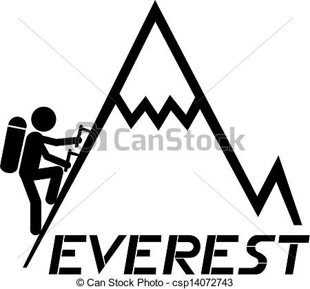 Free clipart everest logo black and white.