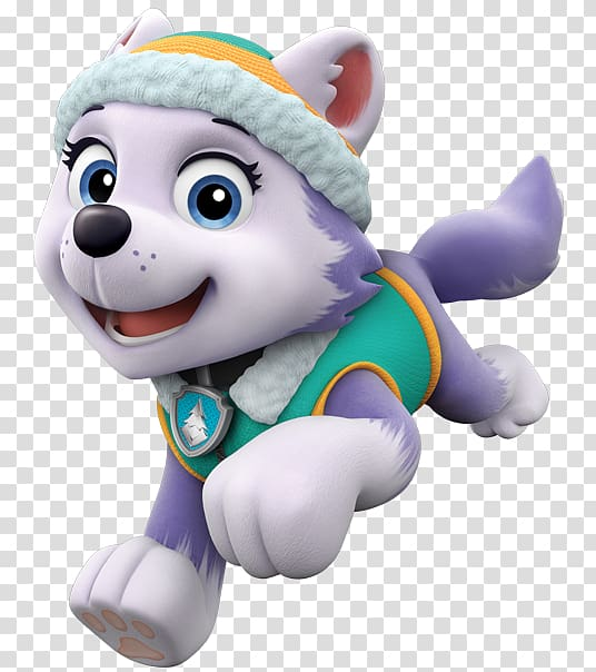 Paw Patrol Everest illustration, The New Pup Police officer.